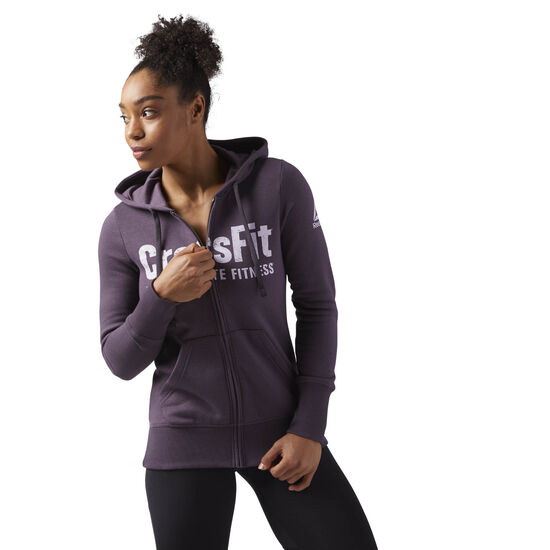 Reebok - Reebok CrossFit Full Zip Hoodie Purple/Smoky Volcano CF5762
