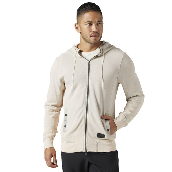 Reebok - The Noble Fight Washed Hoodie Beige/Sand Stone BQ8034