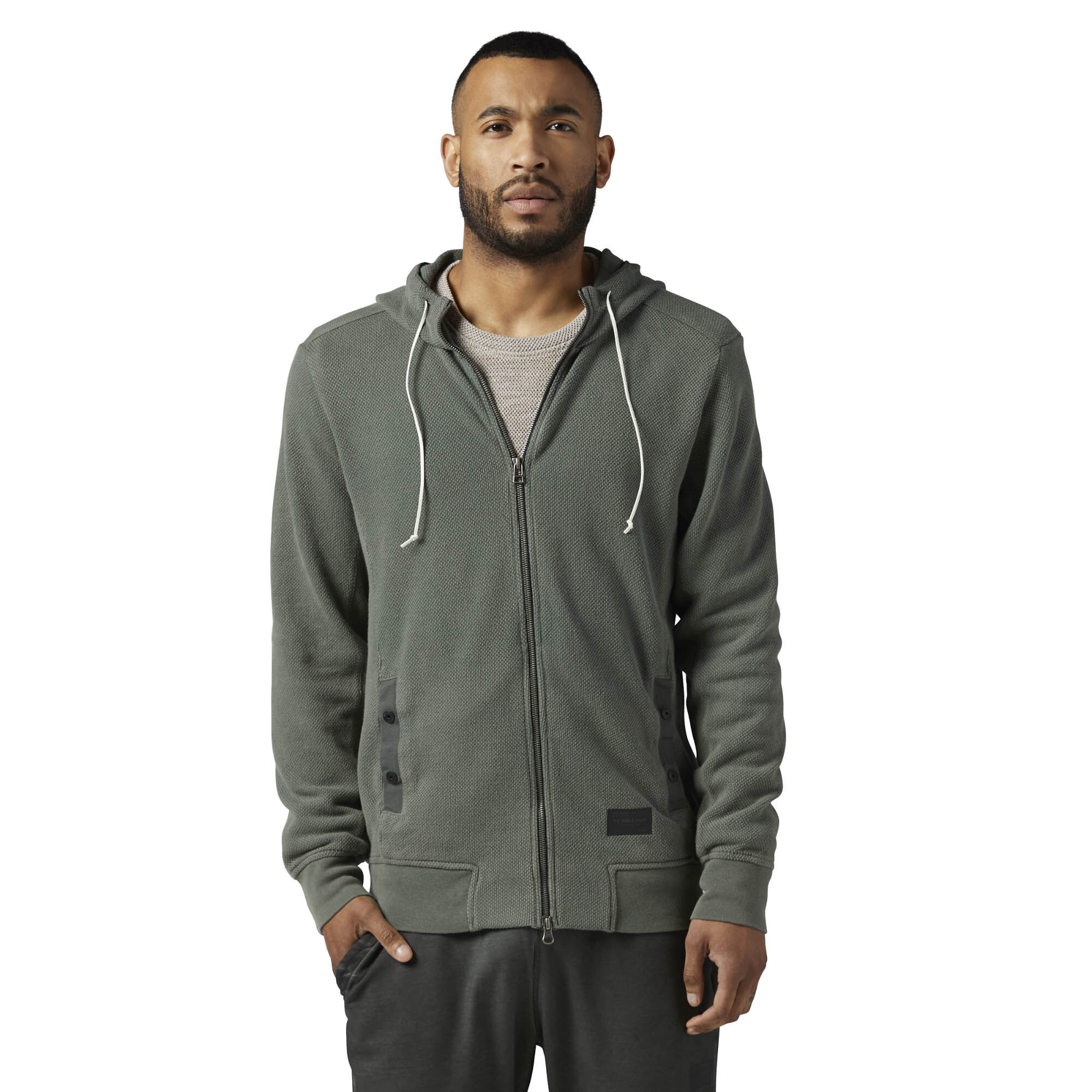 Reebok - The Noble Fight Washed Hoodie Iron Stone BQ5692