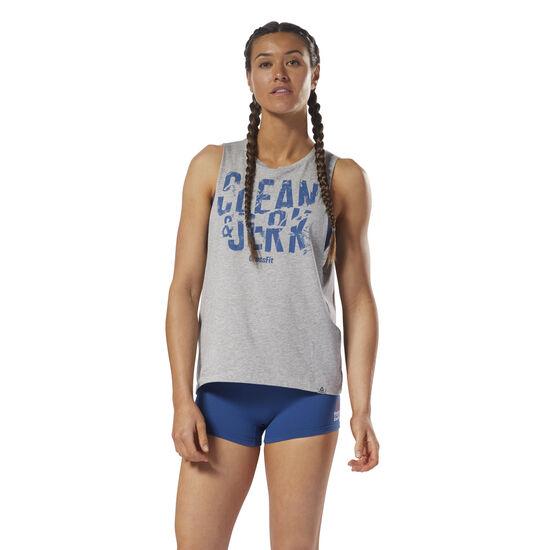Reebok - Reebok CrossFit 'Clean & Jerk' Muscle Tank Medium Grey Heather DH3725