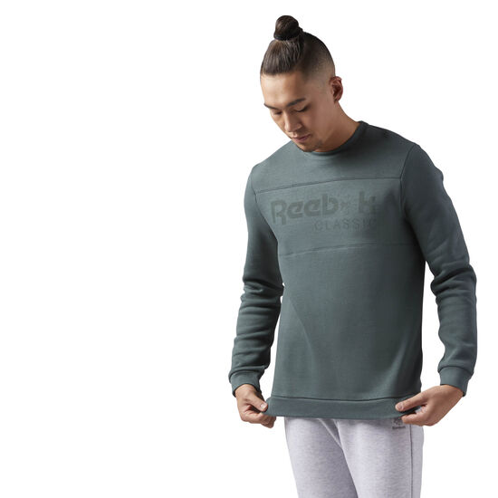 Reebok - Reebok Classics Iconic crew neck Sweatshirt Chalk Green CE1848