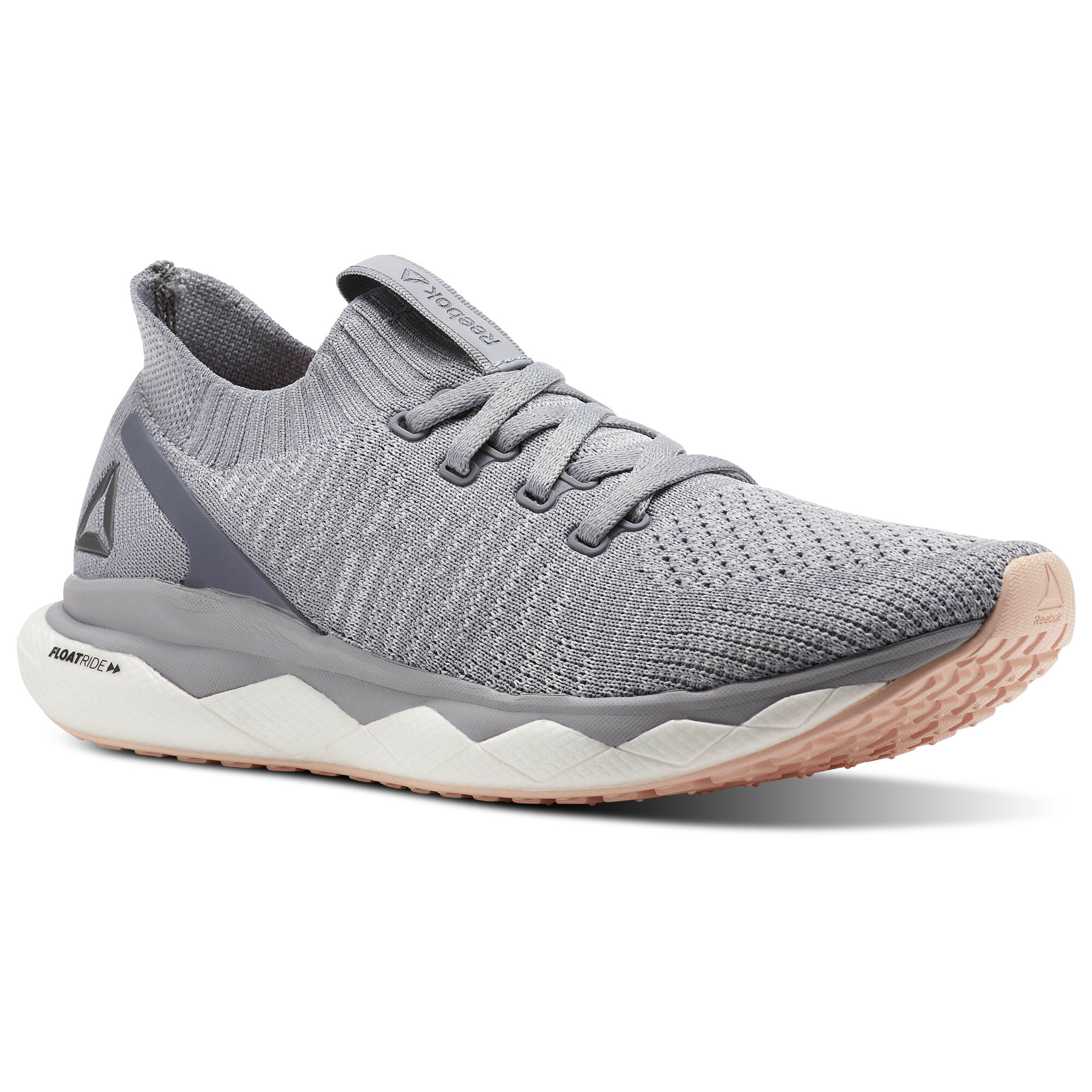 Reebok FLOATRIDE RUN 6000 - Stabilty running shoes - white/skull grey/stucco 9eOGca7