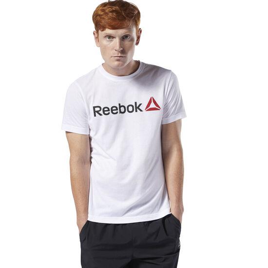 Reebok - Reebok Linear Read Tee White / Black CW5372