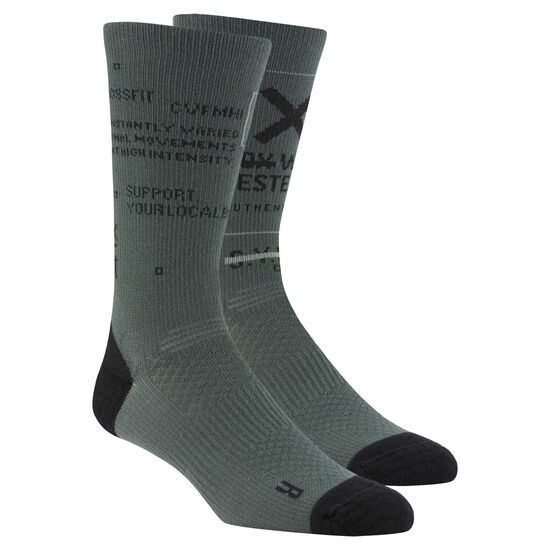 Reebok - Reebok CrossFit Men Engineered Crew Socks Chalk Green CZ9923
