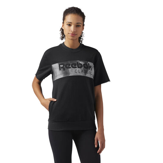 Reebok - Short Sleeve Graphic Sweatshirt Black CE2296