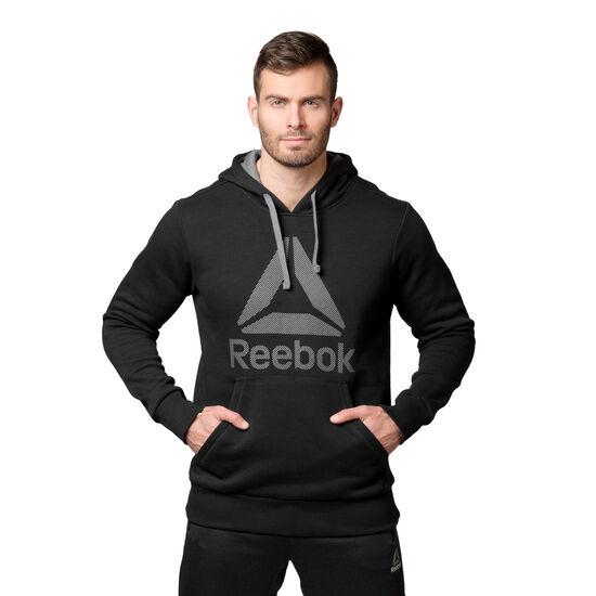 Reebok - Workout Ready Big Logo Cotton Poly Hoodie Black/Alloy BK4158