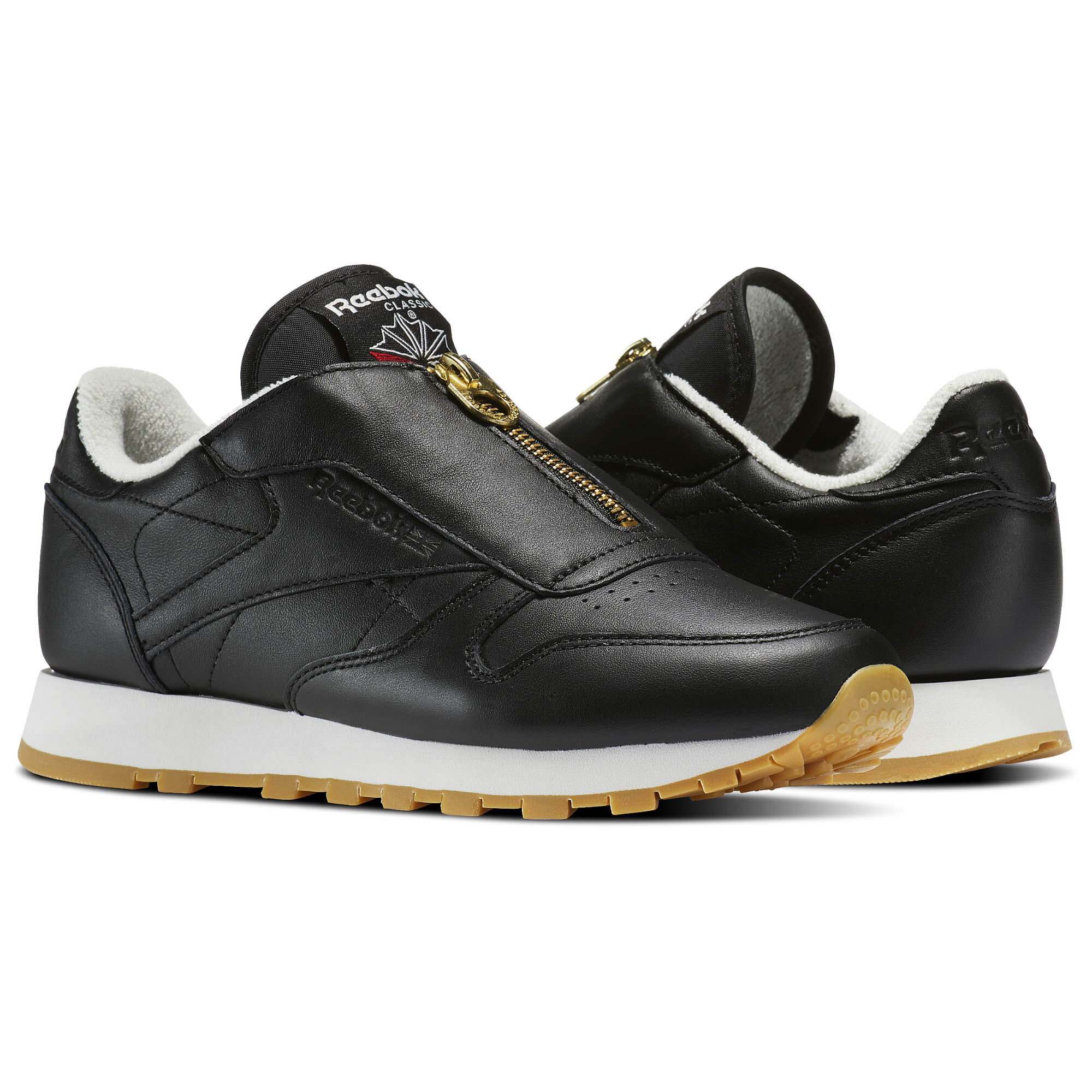 Reebok Cl Leather Zip W Lo Sneaker Schuhe chalk Qki9n