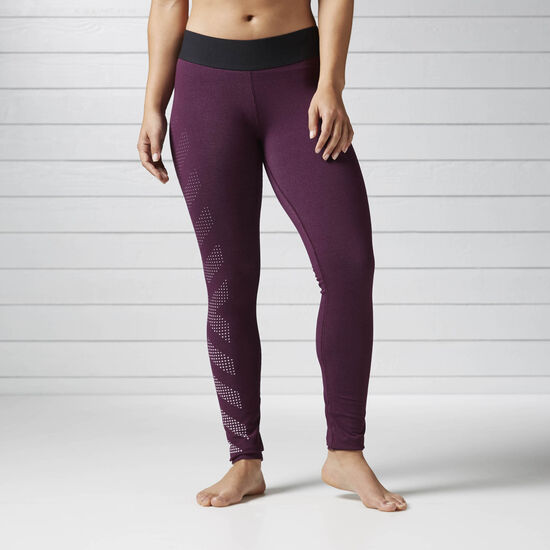 Reebok - Quik Cotton Burnout Legging Pacific Purple BS4712
