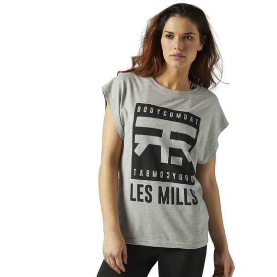Reebok - LES MILLS BODYCOMBAT™ Tee Medium Grey Heather CE6796