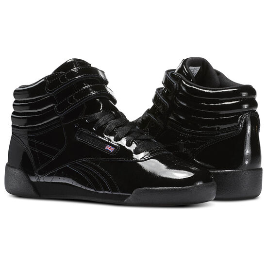 Reebok - Kid's Freestyle Hi Patent Leather Black CN2077