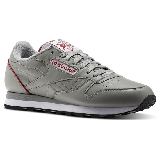 Reebok - Classic Leather ARCHIVE Light Solid Grey/White/Power Red/Black CN0723