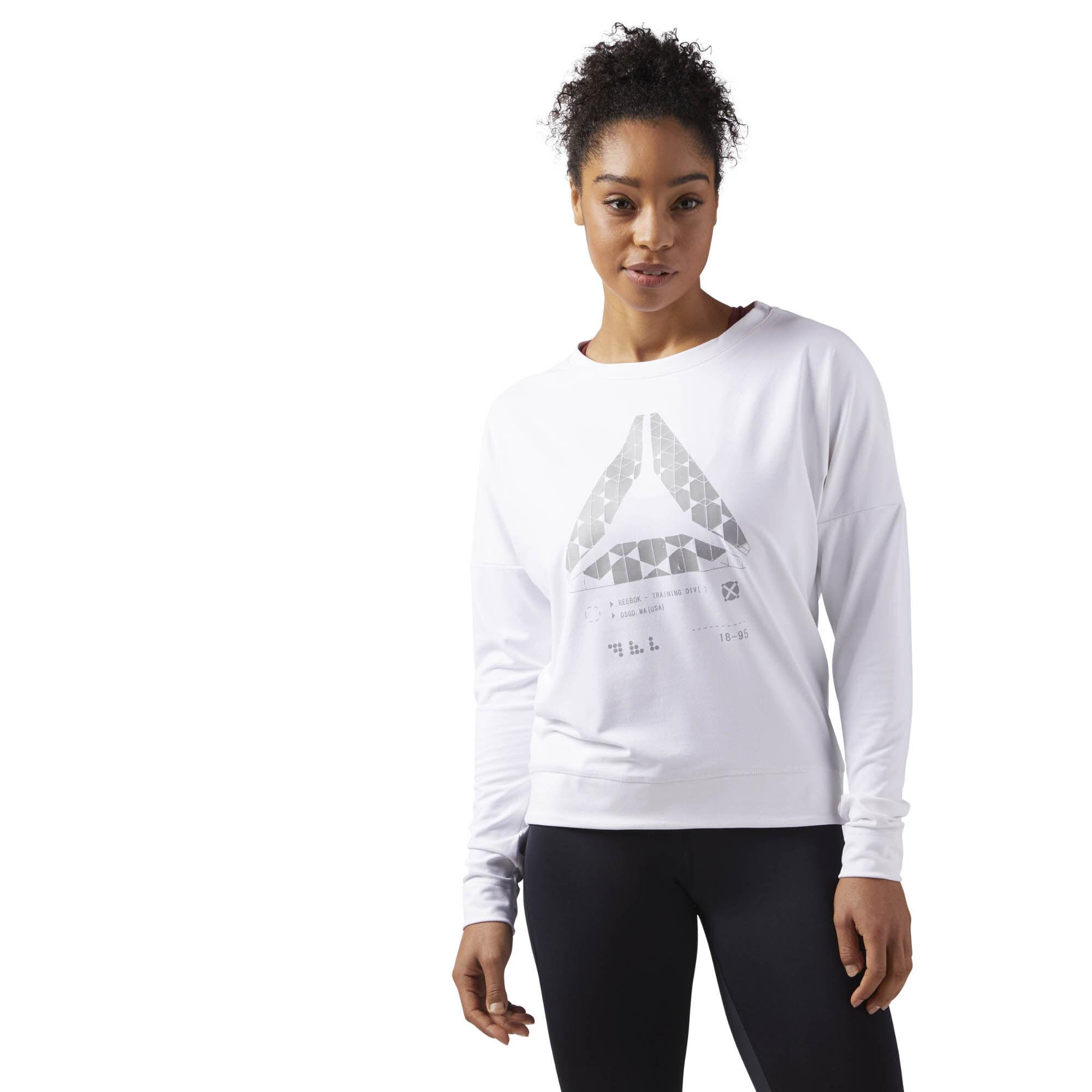 Choix À Vendre Reebok SPEEDWICK CREW NECK SWEATSHIRT - Sweatshirt - white fiable Forfait De Compte À Rebours Prix Pas Cher Sortie D'usine À Vendre VTXoydom