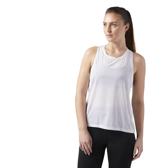 Reebok - Perforated Speedwick Tank White CG1070