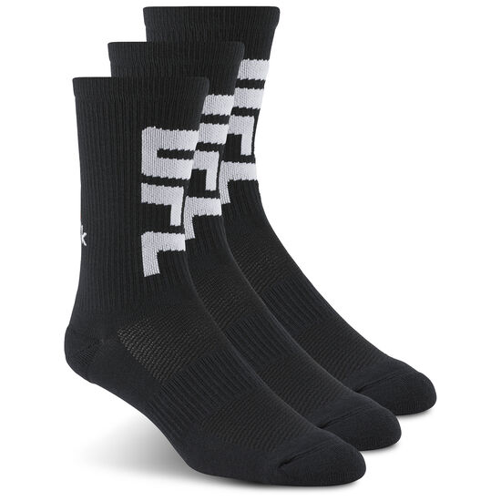 Reebok - UFC Fan Crew Sock Black/Black/Black AZ8784