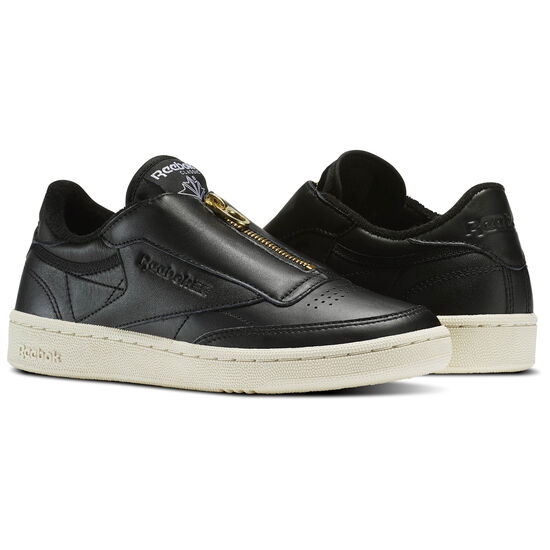 Reebok - Club C 85 Zip Black/Sleek Met/Paper White/Coal BS6608
