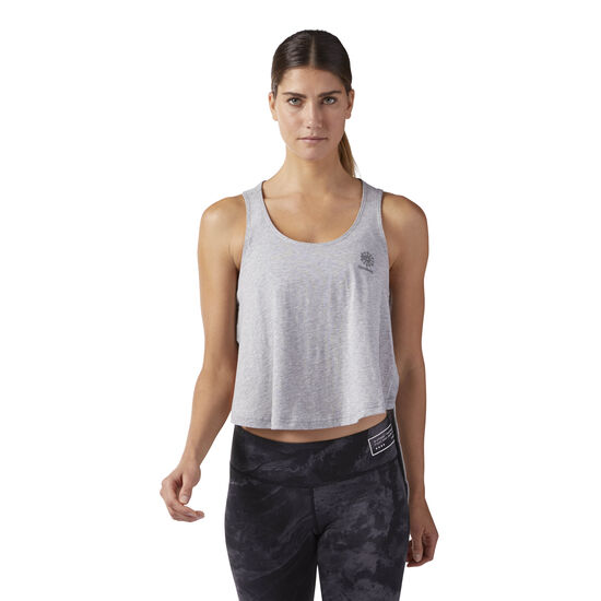 Reebok - High-Low Tank Medium Grey Heather CD8228