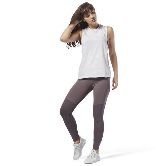 Reebok - Training Essentials Colour Block Marble Leggings Almost Grey CY3603