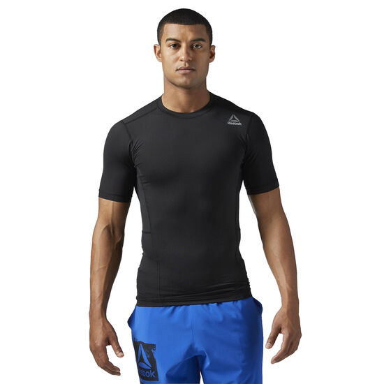 Reebok - Workout Ready Short Sleeve Compression Tee Black/Black BQ5724