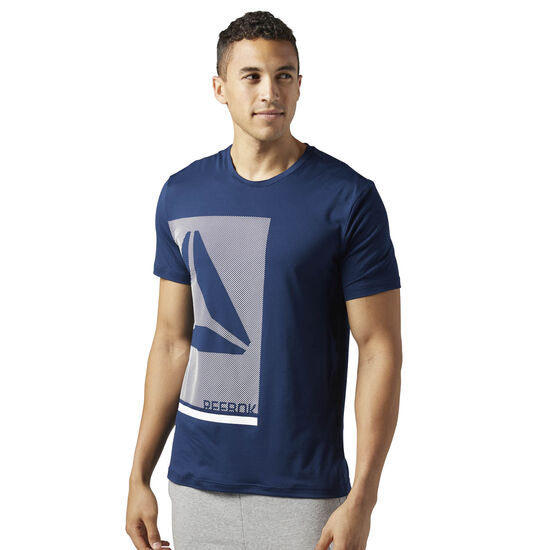 Reebok - Workout Ready Premium Graphic Tech Top Collegiate Navy BQ3731