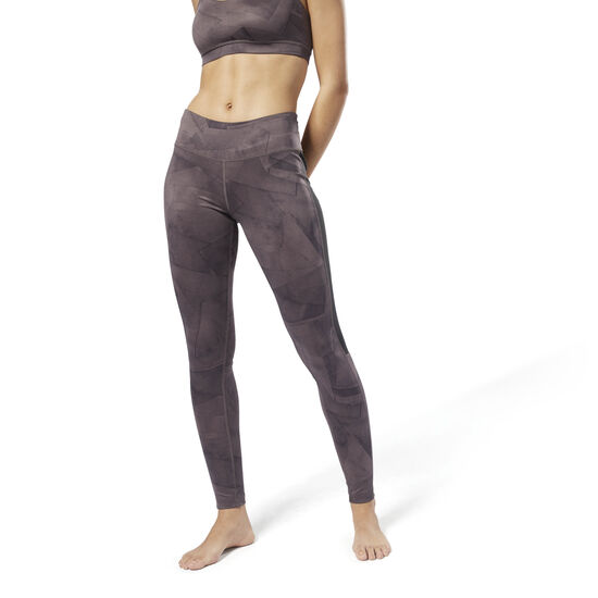 Reebok - Workout Ready Printed Tights Almost Grey D95050