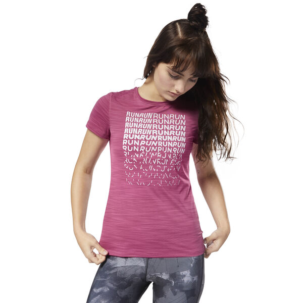Running ACTIVCHILL Graphic Tee Pink CY4623