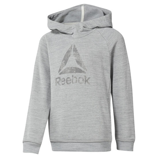 Reebok - Boys Training Essentials Marbel Over The Head Hoody Skull Grey DJ3075