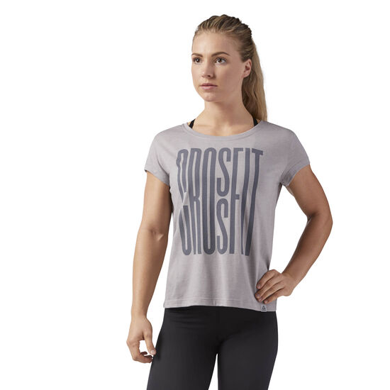 Reebok - Reebok CrossFit Stretch Easy Tee Powder Grey CF5758