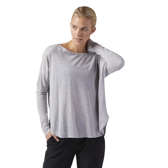 Reebok - Training Supply Long Sleeve Tee Medium Grey Heather CF8656