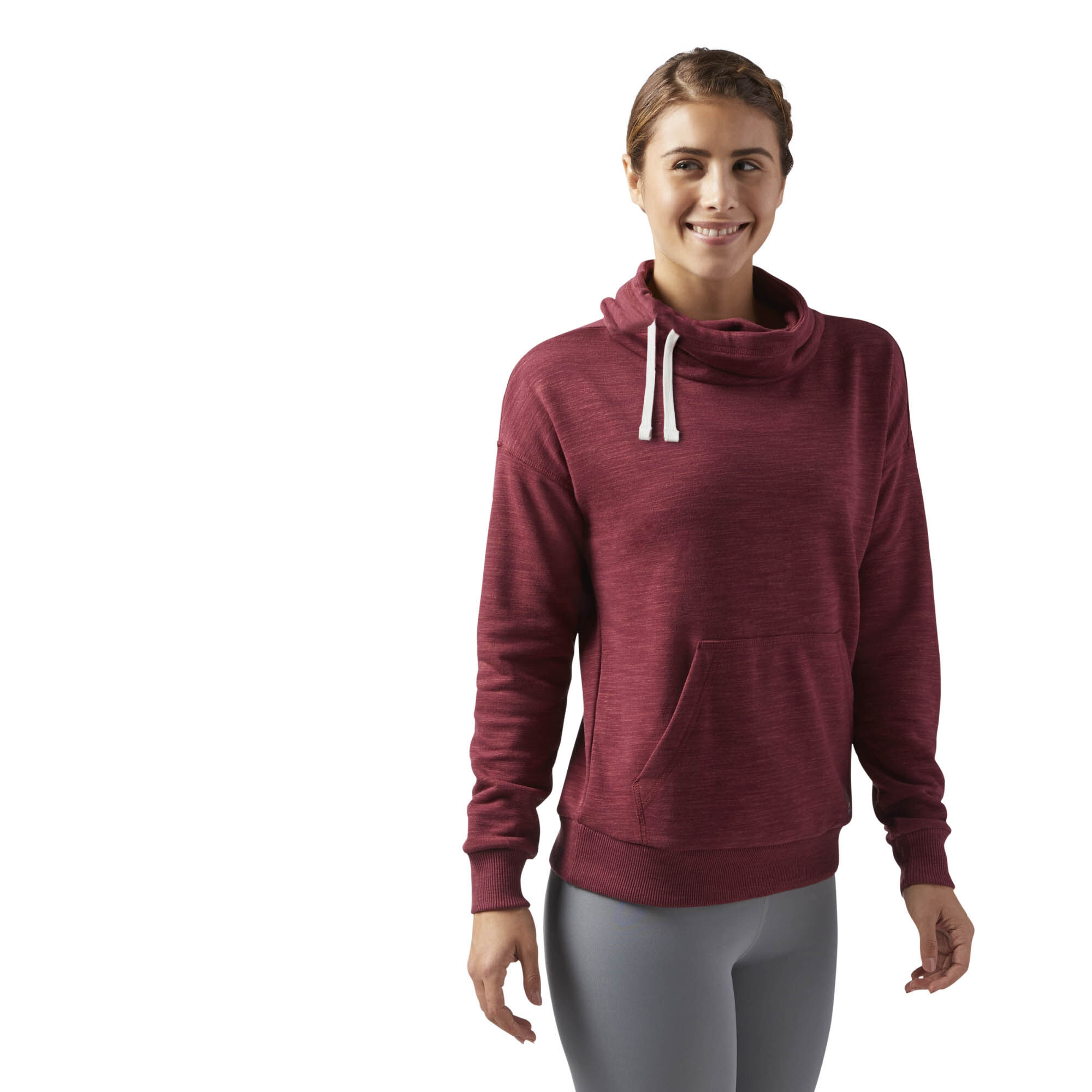 Reebok - Reebok Training Essentials Cowl Neck Sweatshirt Urban Maroon CD5897
