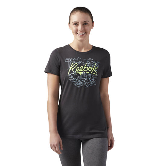 Reebok - Graphic Crewneck T-Shirt Coal CF4470