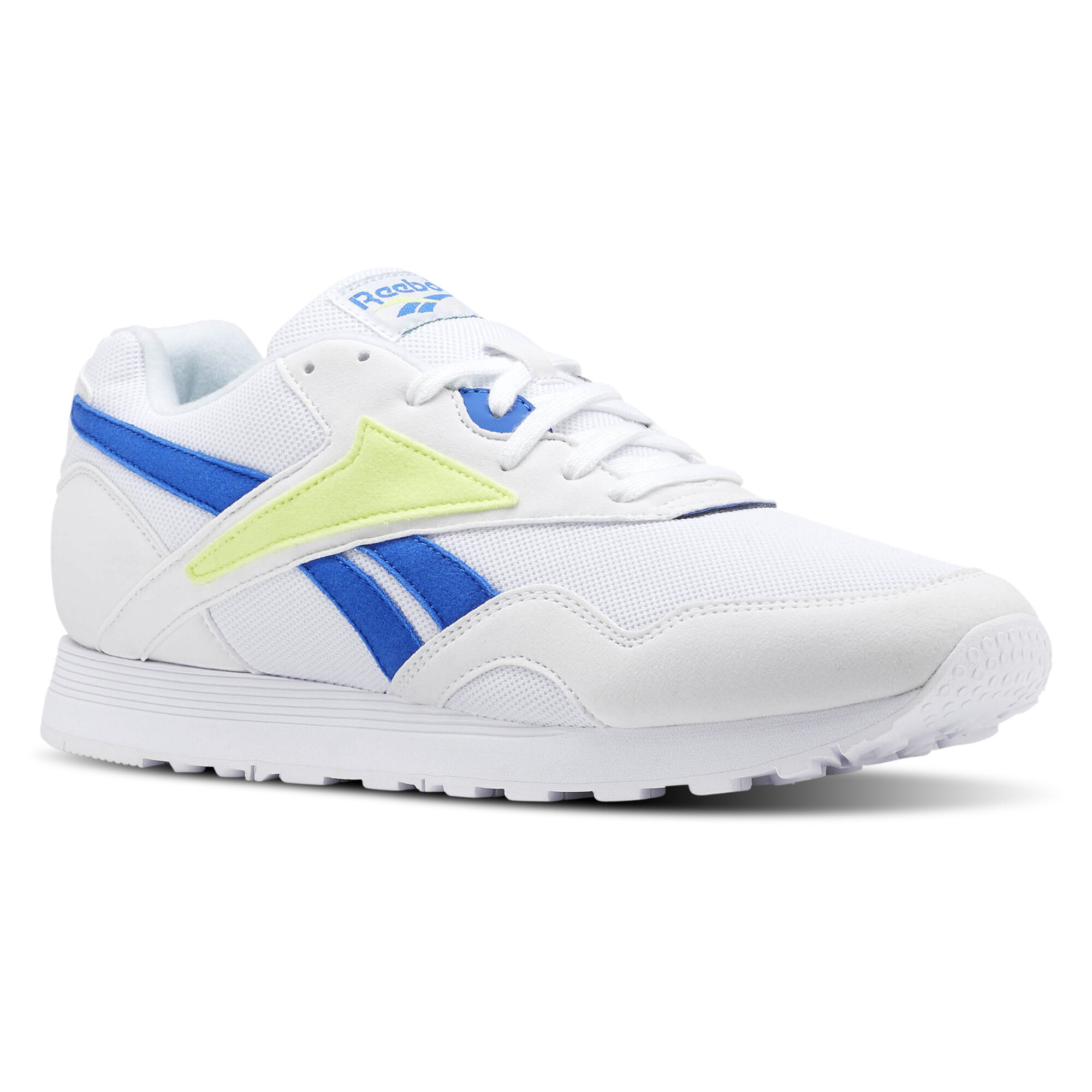 Reebok Classic RAPIDE - Trainers - white/vital blue/lemon agSy3Hqjlv