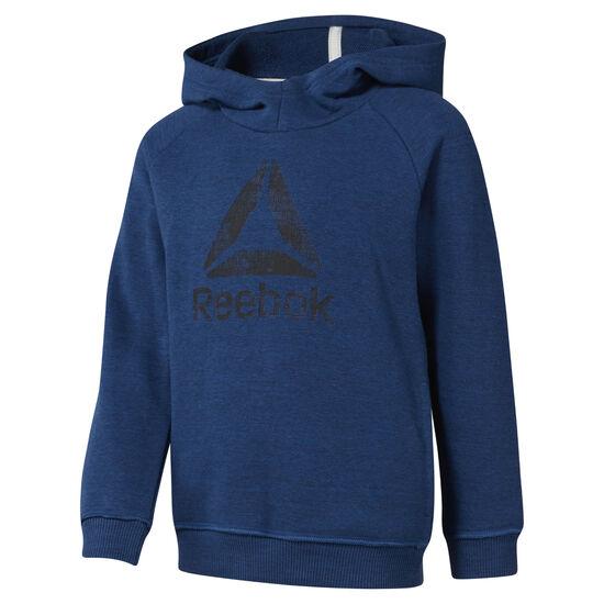 Reebok - Boys Training Essentials Marbel Over The Head Hoody Bunker Blue DJ3073