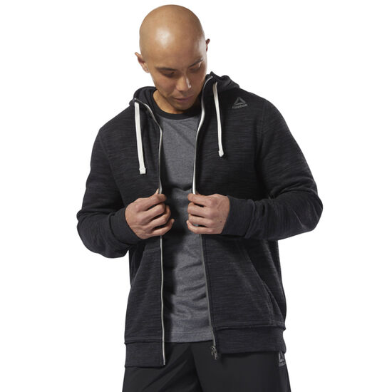 Reebok - Training Essentials Marble Full Zip Hoodie Black D94188