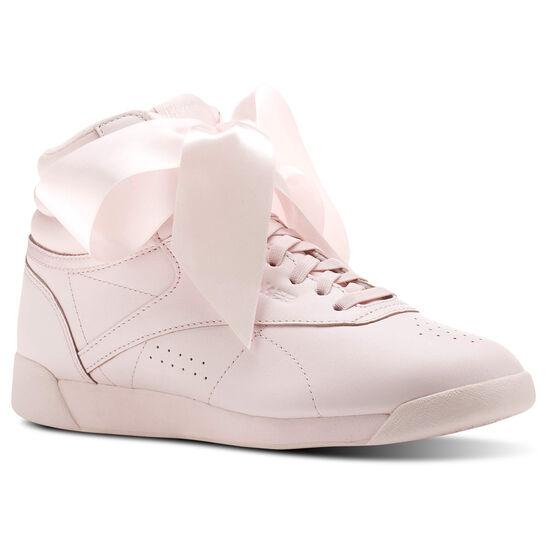 Reebok - Freestyle Hi Satin Bow Porcelain Pink/Skull Grey CM8905