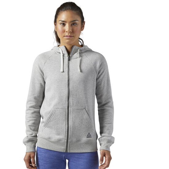 Reebok - Training Essentials Fleece Full Zip Hoodie Medium Grey Heather BS4109