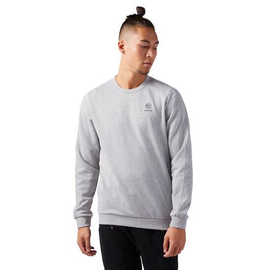 Reebok - Classic Crew Neck Sweatshirt Medium Grey Heather CD6616