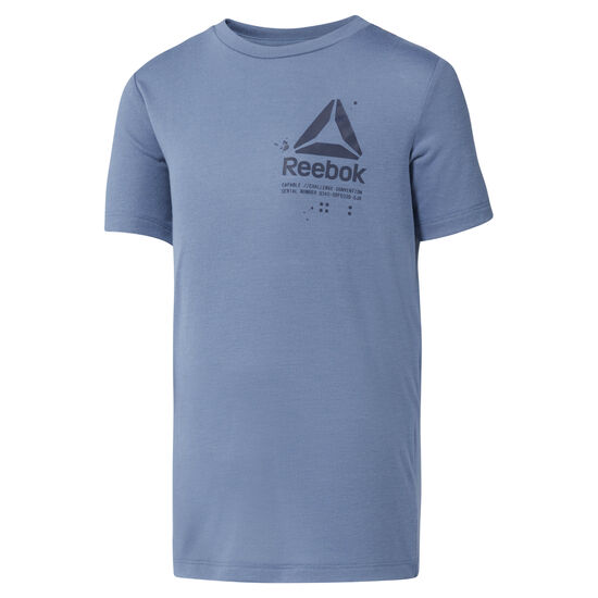 Reebok - Boys' Training Graphic T-Shirt Blue Slate DH3338