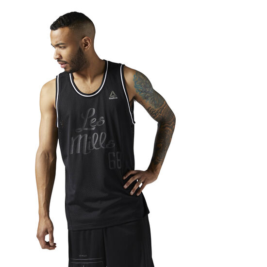 Reebok - LES MILLS Mesh Basketball Tank Black CE6710