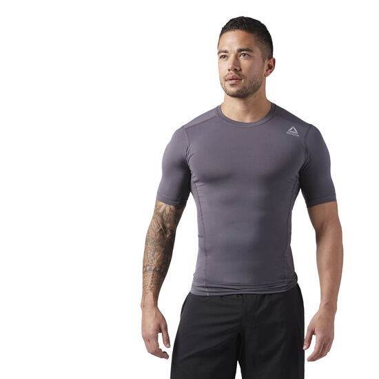 Reebok - Workout Ready Short Sleeve Compression Tee Ash Grey CE0110