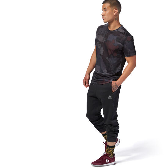 Reebok - Speedwick Alley Camo Graphic Tee Black D93790