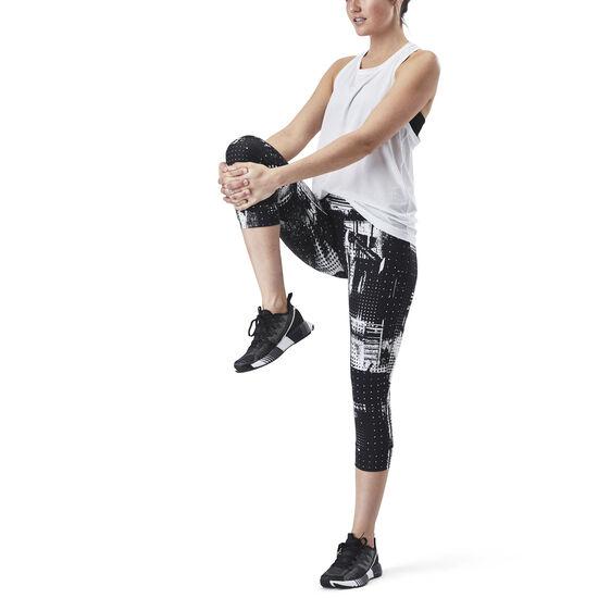 Reebok - Lux Capri Legging Black/White CF5902