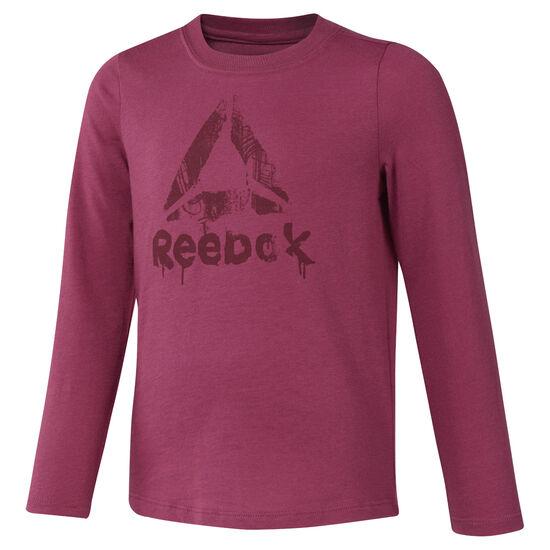 Reebok - Girls Training Essentials Longsleeve Twisted Berry DH4365