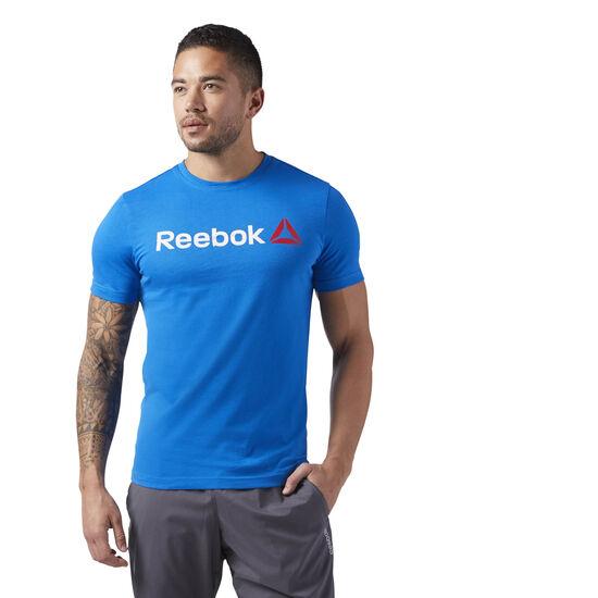 Reebok - Reebok Linear Read Tee Blue Sport CW5374