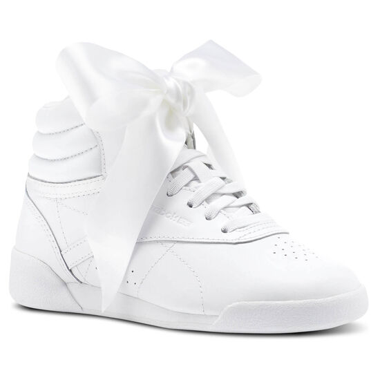 Reebok - Freestyle HI Satin Bow White/Skull Grey CN2024