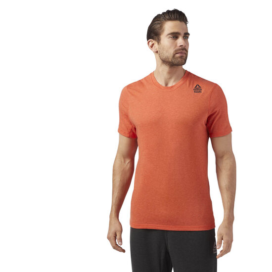 Reebok - Reebok CrossFit Performance Blend Graphic Tee Bright Lava Melange CE2636