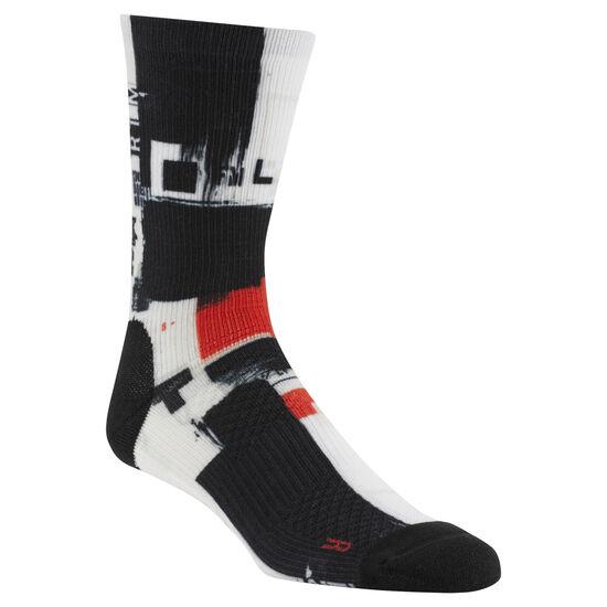 Reebok - Reebok CrossFit Men Printed Crew Socks White CZ9921
