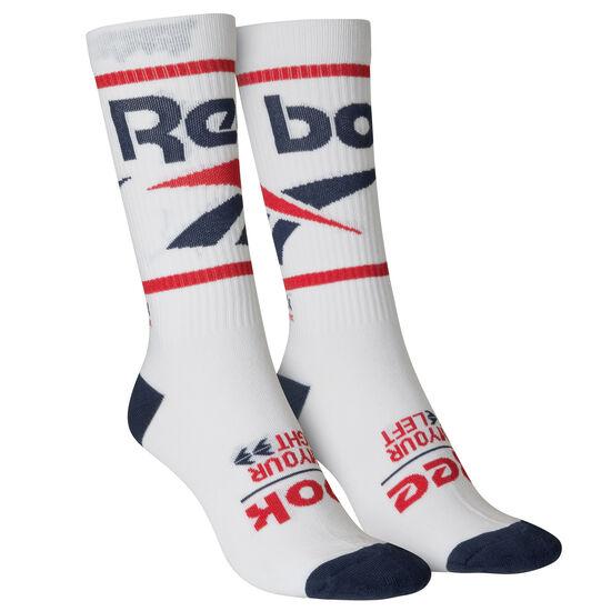 Reebok - Classics Vector Graphic Crew Sock White DN6024