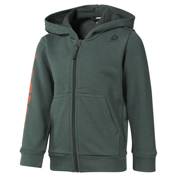 Boys Training Essentials Fullzip Hoody Green DM5553