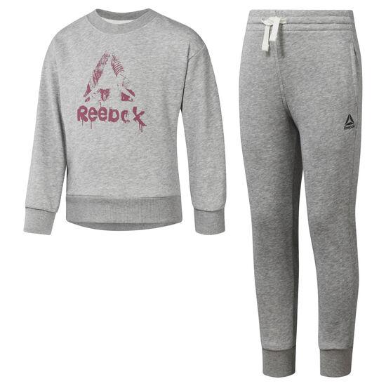 Reebok - Girls Training Essentials French Terry Tracksuit Medium Grey Heather DH4337