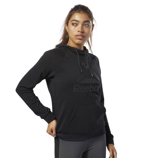 Reebok - Workout Ready Logo Hoodie Black / Black D95471